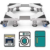 DEWEL Support de Machine à Laver mobile avec 4 roues à double verrouillage 4 pieds 8 tubes robustes, Base de Réfrigo de…