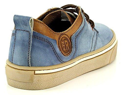 Vado RZZ Owen Schnürschuh blau jeans braun antik Blau