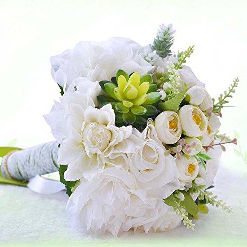Simulation mousse Roses mariée tenant des fleurs bouquet de mariage fleur artificielle cadeau de mariage