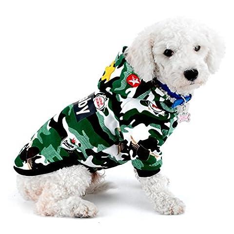 ranphy Hund Katze Schneeanzug Camo Shih Tzu Winter Mantel Chihuahua Hoodies Haustier Kleidung für kleine Hunde Warm Yorkie (Christmas Ribbon Clearance)