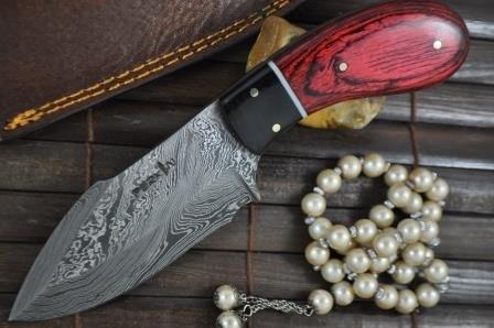 Perkin Knives Handgemachtes Damast Jagdmesser