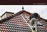 24KG Dachfarbe in Schokoladenbraun für Ziegel, Dachpfanne, Eternit TÜV-GEPRÜFT Dachsanierung Dachbeschichtung Dachziegel Farbe Braun