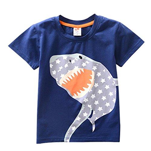 der Baby Jungen Mädchen Kleidung Kurzarm Cartoon Tops T-Shirt Bluse (Pokemon Kostüme Für Babys)