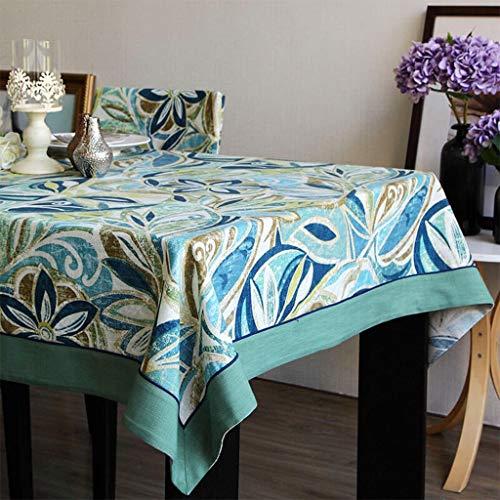 Zuoanchen tovaglie romantico san valentino tavolo da tavolo blu/verde stampato tela tovaglietta per ufficio cucina pranzo festa nuziale (colore : b, dimensioni : 130 * 180cm)