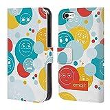Head Case Designs Offizielle Emoji® Punkte Die Gelben Und Poos Brieftasche Handyhülle aus Leder für iPhone 5c