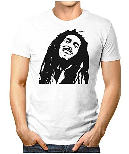 PRILANO Herren Fun T-Shirt - BOB-SILHOUETTE - Small bis 5XL - NEU Große Farbauswahl Weiß