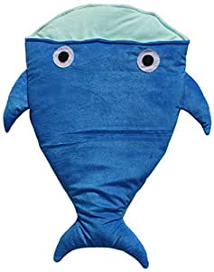 Amardeep Baby Fish Sleeping Bag Cum Baby Carry Bag, Blue