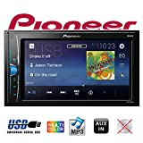 Pioneer MVH-A100V 2DIN Autoradio 15,7 cm (6,2 Zoll) Media Receiver für Audio Video USB, Clear-Resistive-Touchscreen Schwarz