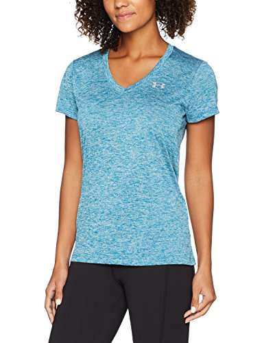 Under Armour Damen Tech Ssv-Solid Kurzarmshirt, blau (Bayou Blue), XS