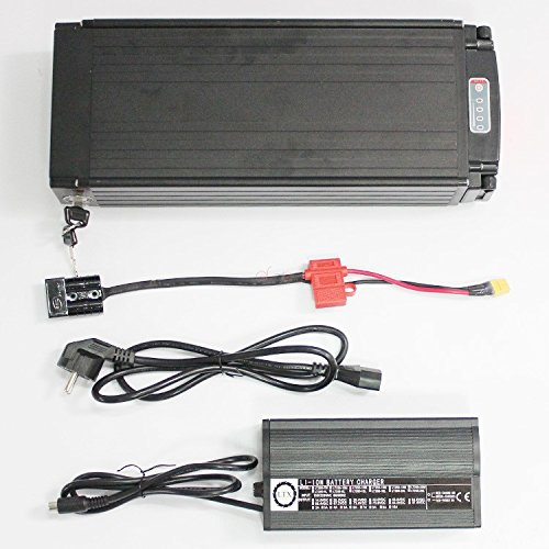 51%2BW2oU%2B6sL. SS500  - HalloMotor and free duty High Power 48V 20 AH OEM Cell Rear Rack Rear Carrier Flat Aluminium Case Li-ion Battery With 5A…