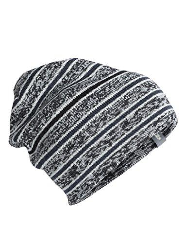 Icebreaker Atom Hat One Size Black/Snow/Stealth