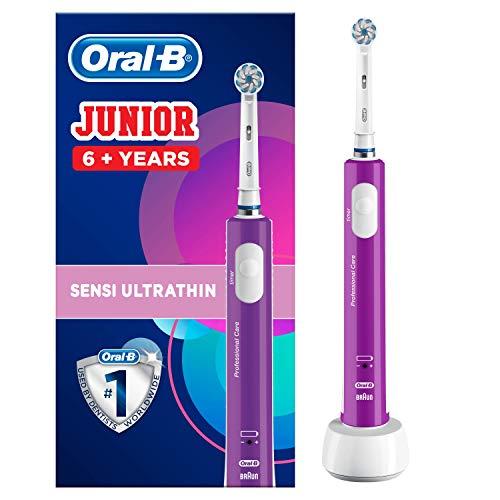 Oral-B Junior Elektrische Zahnbürste, für Kinder ab 6 Jahren, lila
