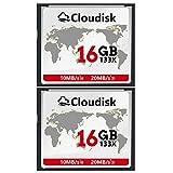 2pcs Prestazioni della scheda di memoria CF Compact Flash da 16 GB per fotocamera digitale vintage (16GB)