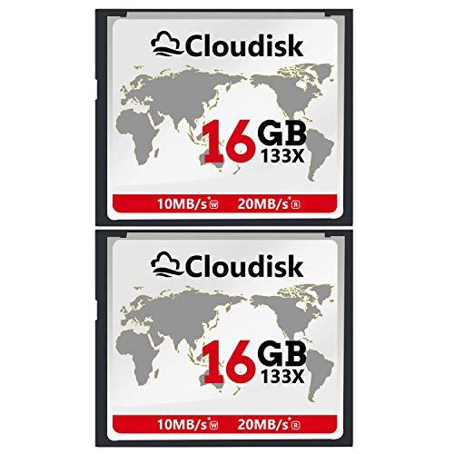 Garantie Compactflash-karte (Cloudisk 2X CF-Karte 16 GB Compact Flash-Speicherkarte Leistung für Vintage Digitalkamera (2PACK 16GB 133X))