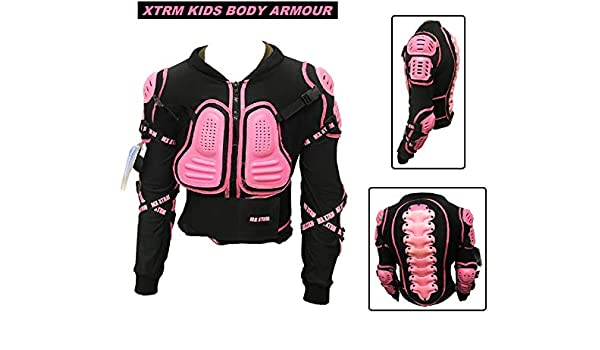 Kids Body Armour Motorbike Motocross XTRM EDGE Motor Cycle BMX Quad Bike Off Road Chest Spine Guard Children Racing Child Sports CE Protective Jackets