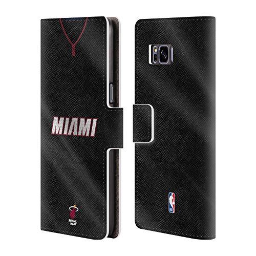 Offizielle NBA Jersey Strasse 2018/19 Miami Heat Brieftasche Handyhülle aus Leder für Samsung Galaxy S8+ / S8 Plus Miami Heat Cellular Phone Case