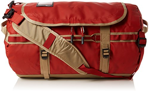 The North Face Base Camp Duffel, Sacs de Sport Grand Format Mixte, Multicolore (Bossa Nova Red/Kelp Tan), 71 L, M
