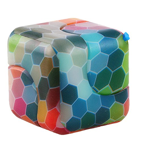 Saioue New Style Hand Cube Spinner 2 in 1 Fidget Toy Relieves Stress and Anxiety