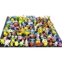 Lihao Pokemon Plastic Miniature Action Figures Set (144 Piece)