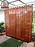 #9: Hippo Outdoor Curtains - Brown Colour - Full Size (2 Nos. X 4.0 Ft W X 7.5 Ft L)