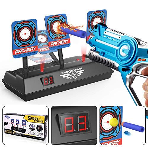 Objetivo Digital Electrónico para Pistolas Nerf con Restablecimiento Automático, Efectos Inteligentes de Sonido y Luz, para Nerf N-Strike Elite/Mega/Rival Series (Sólo Objetivo)