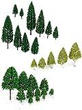 27pcs Scenery Layout Landscape Train Model Trees 3-16cm 3-Type