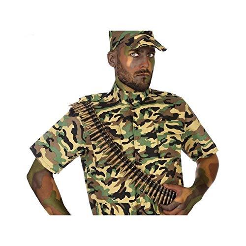 Atosa 56618 Army - Cintura Porta cartucce, Colore: Oro