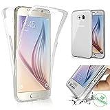 Galaxy S6 Hülle,Ukayfe Crystal Clear Vorne und Hinten Silikon Handyhülle für Samsung Galaxy S6 360 Grad Full Body Cover TPU Silikon Case - Durchsichtig Komplett Schutzhülle Handy Tasche Schutz Etui