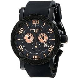 SWISS LEGEND 30465-BB-01-RA - Reloj para hombres, correa de goma color gris