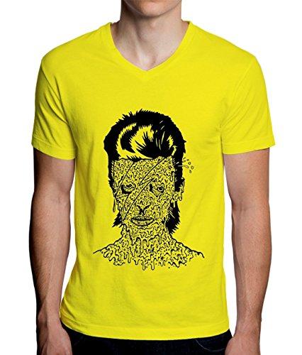 MaikesTic Zombie Girl Design Men's V-Neck T-Shirt XX-Large