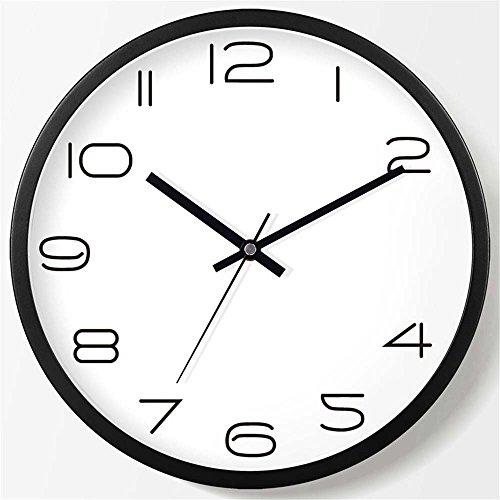 WERLM Salon élégant Horloge murale Horloge creative chambre salon chambre à coucher horloge murale mute Horloge murale Horloge quartz noir, devrait être de 20 cm