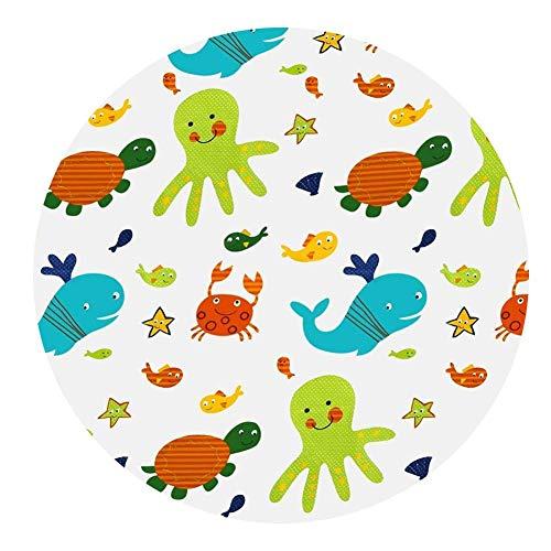 130 CM Runde Baby Hochstuhl Splat Bodenschutz Matte Wasserdichte Bodenmatte Stuhlkissen - Runde Hochstuhl