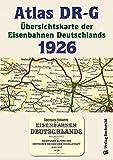 ATLAS DR-G 1926 - Übersichtskarte der Eisenbahnen Deutschlands: EISENBAHN-VERKEHRSKARTE - Gesamtes Eisenbahnnetz des DEUTSCHEN REICHES der Deutschen Reichsbahn - Gesellschaft -