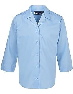 Blue Max Banner Big Girls Twin Pack Short Sleeve School Blouse