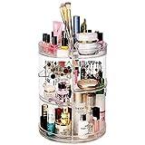 X-LIVE Make-up-Organizer, verstellbar, 360 Grad drehbar, Kosmetik-Aufbewahrungsbox, große Kapazität, Multifunktions-Make-up-Halter, passt für viele Kosmetika und Accessoires (klar)
