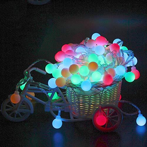 10 Meter 100 Lichter führen zu farbigen Lichtern mattierte Kugel Lichterketten Weihnachtsschmuck kleine Lichter Sternenraum-Layout Lichterketten Batterielichter Farbe