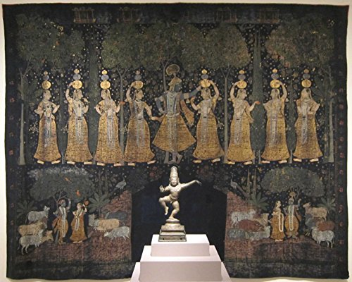 Das Museum Outlet-Verspielte Geschenke und andere Gopi (Mythologie) Szenen ',' pichwai 'aus Golconda, Indien,, späten 17. Jahrhunderts-Poster Print Online (A3Poster)