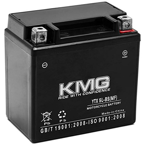 KMG Yamaha 250WR250F 2003-2007YTX5L-BS versiegelte Maintenace gratis Akku High Performance 12V SMF OEM Ersatz wartungsfrei Powersport Motorrad Roller ATV Schneemobil KMG High-performance Powersports Batterie