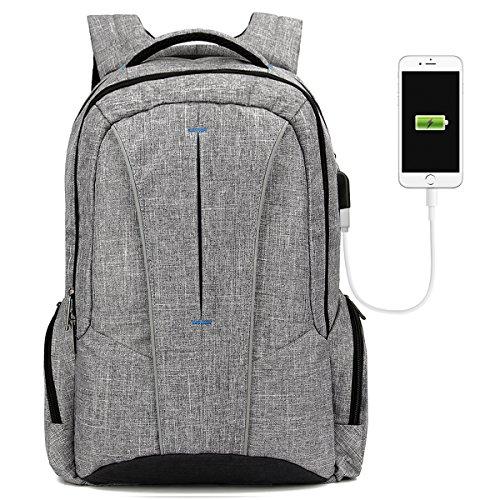Laptop Rucksack 17,3 Zoll Notebook Rucksack mit vielen Taschen und Fächern,Anti Diebstahl Rucksack USB-Ladeanschluss Computer schulrucksack Daypack für Herren und Damen
