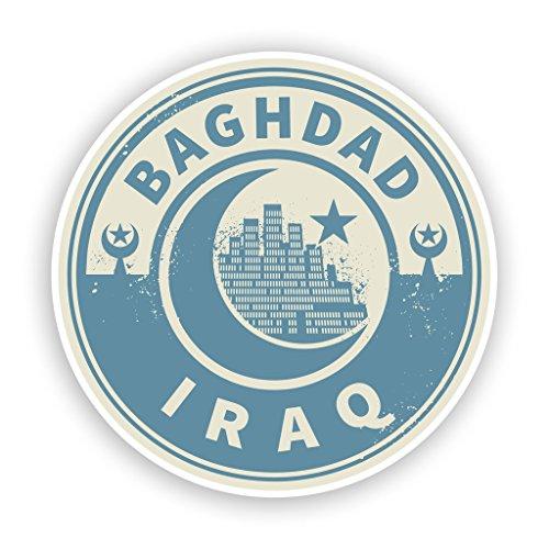 2x Irak Bagdad Vinyl Aufkleber Reise Gepäck # 7444 - 10cm/100mm Wide