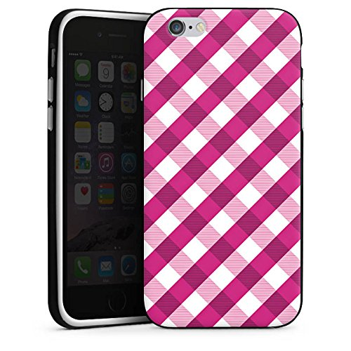 Apple iPhone 5s Housse Étui Protection Coque Carreau Motif Motif Housse en silicone noir / blanc