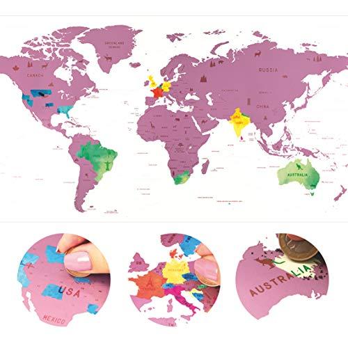 Mapa Mundi Rascar - Mapas Mundo Para Marcar Viajes