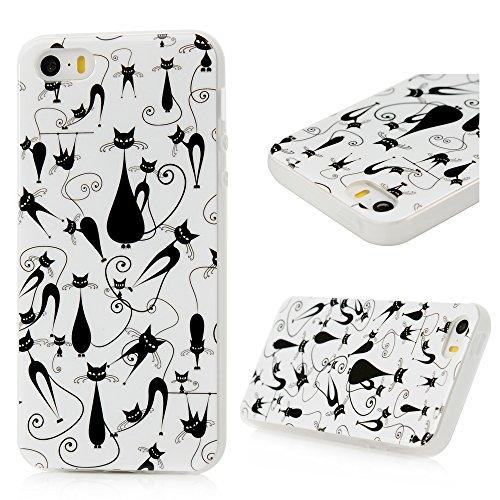 iPhone SE/5S/5 Custodia Cover Bumper TPU Morbido Case, YOKIRIN Dipinto
