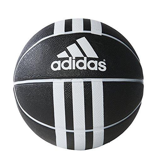 adidas 3S Rubber X Balón de Baloncesto, Unisex adulto, Blanco / Negro, 6