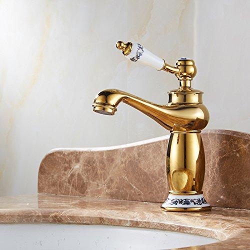 NewBorn Faucet Küche Oder Badezimmer Waschbecken Mischbatterie Hydro Power LED Ohne die Batterie fällt Glas Voll Kupfer heißen und Kalten Becken auf der Konsole Tisch Becken Tippen