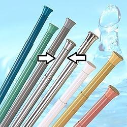 barre pour rideau de douche 190 - 300 cm argentine mat ** EXTRA long ** barre de douche barre avec bornes!