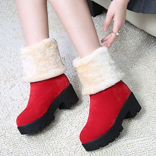 FLYRCX Tempo libero moda inverno Snow Boots con fodera spessa con velluto scarpe caldo C