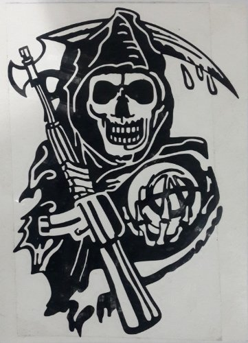 Sons of anarchy sOA décoratif autocollant sticker decal bike chopper les cut grim reaper