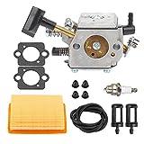 Mckin HD-4A HD-4B HD-13B Vergaser mit Luftfilter Tune Up Kit für STIHL SR320 SR340 SR380 SR400 SR420 BR320 BR340 BR380 BR400 BR420 Rucksack Gebläse
