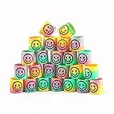 Ccinee Lot 24PC Mini Smiley Ressorts Smile Rainbow Ressorts pour sacs de fête...